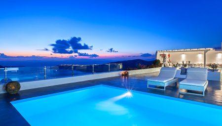 Pool With Sea View Luxury Villa Santorini