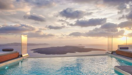 Pool With Sea View Luxury Villa Santorini
