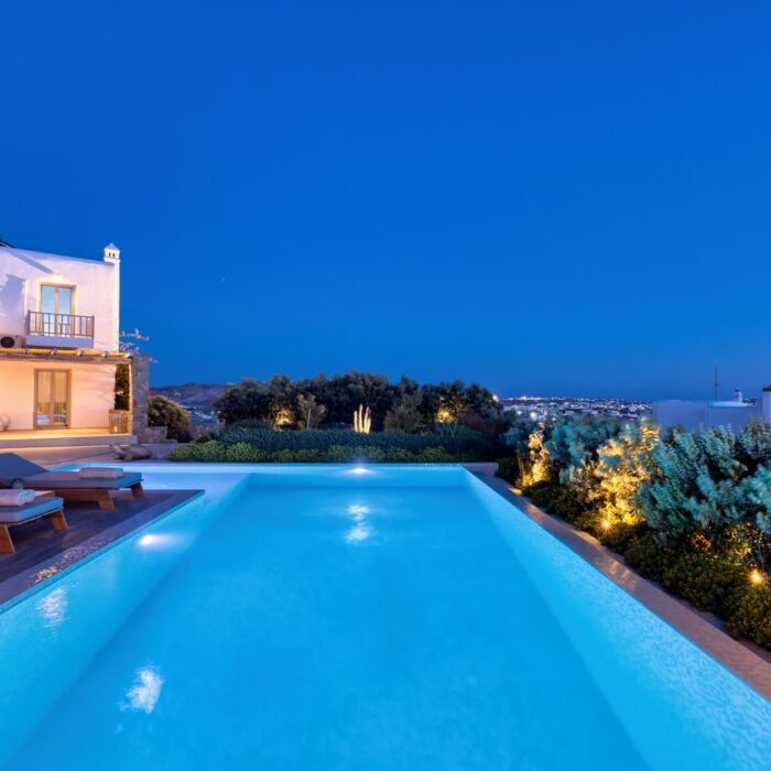 49 M FOUR Villa private pool at night time (Αντιγραφή)