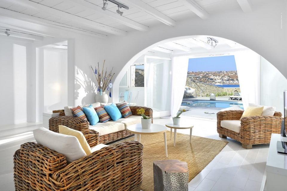 Luxury Villa Mykonos Living Room