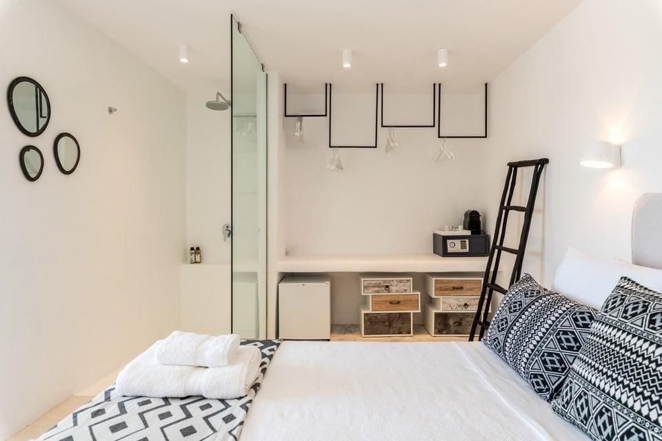 Luxury Villa Mykonos Indoor Lounge Area
