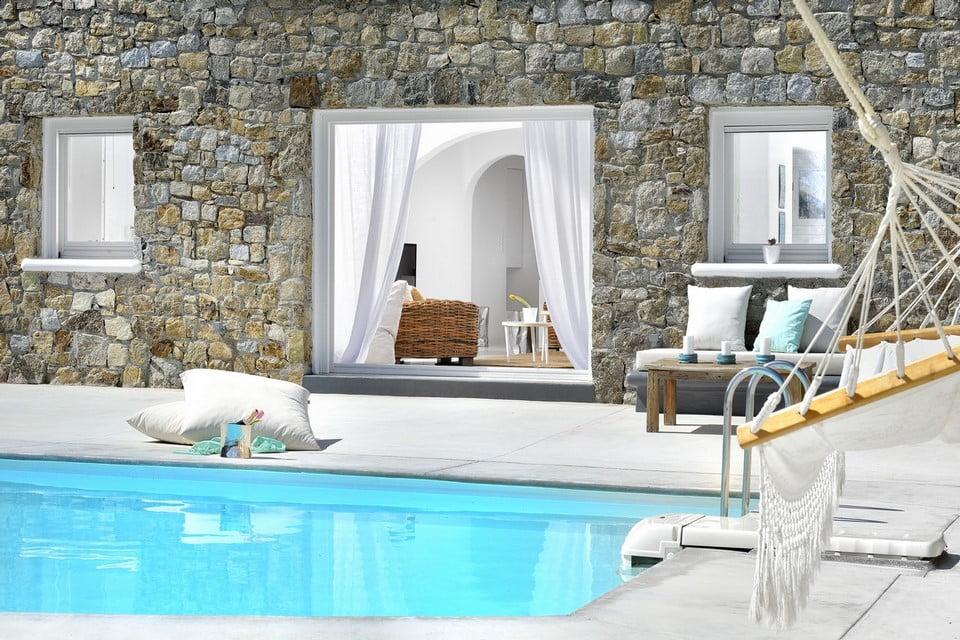 Luxury Villa Mykonos Outdoor Area
