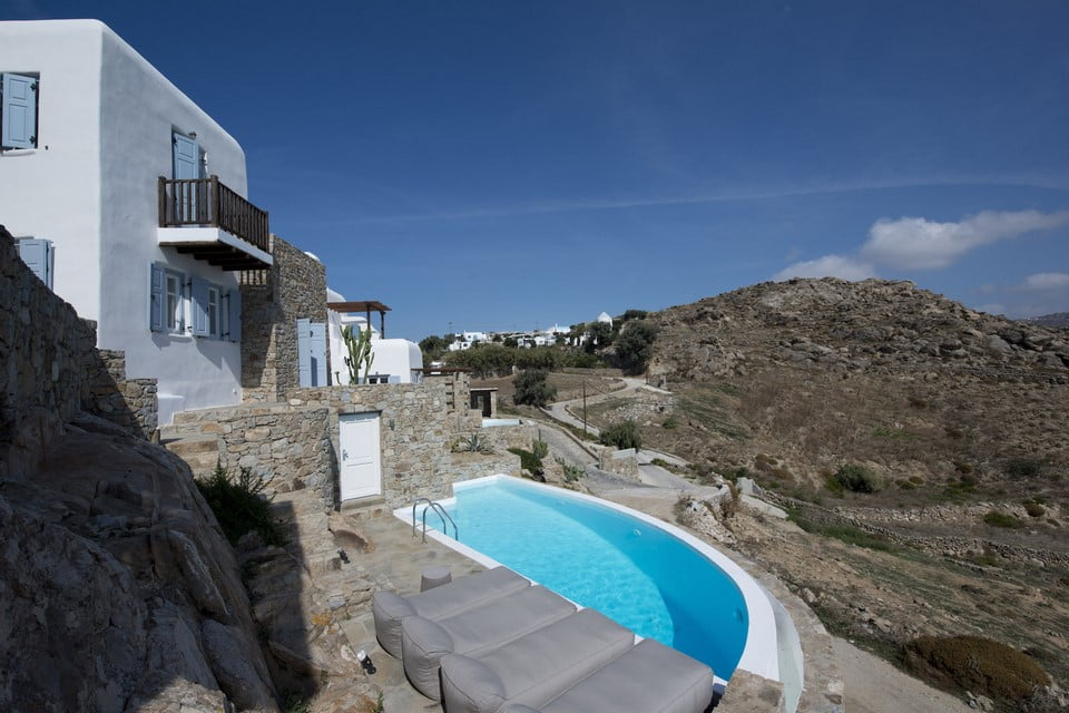 Pool With Sea View Luxury Villa Mykonos