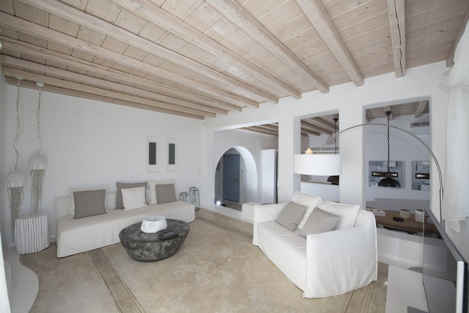 Luxury Villa Mykonos Living Room