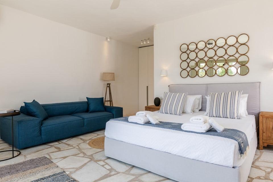 Luxury Villa Mykonos Outdoor Lounge Area