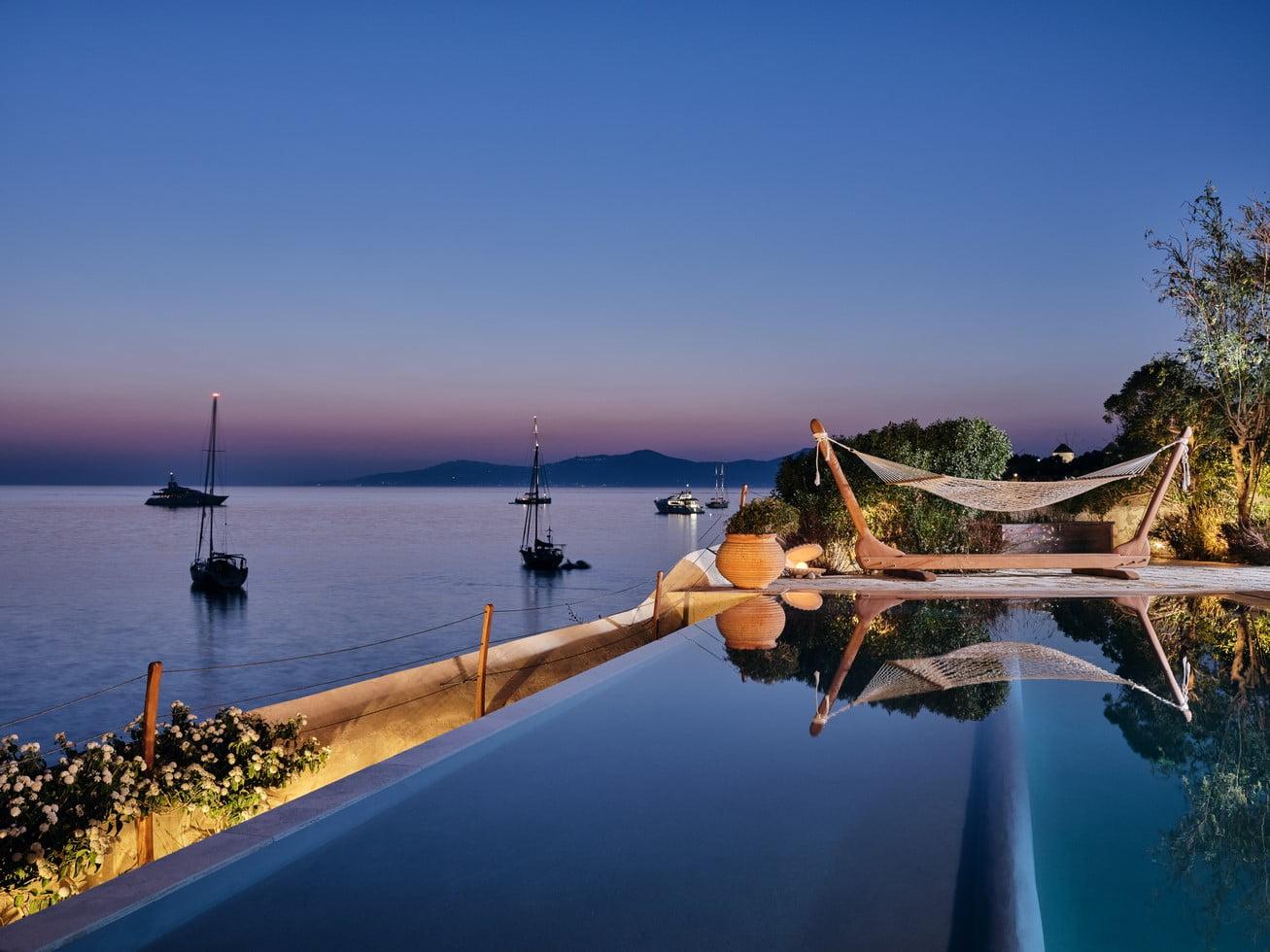 Luxury Villa Mykonos Outdoor Dinning Area