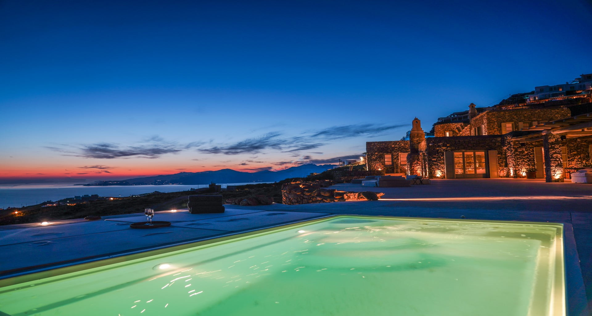 pool luxury villa mykonos