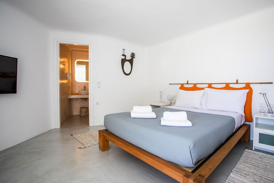 uxury villa bathroom Mykonos