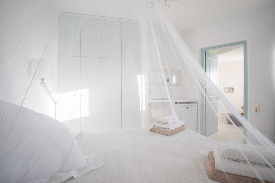 luxury villa bedroom santorini