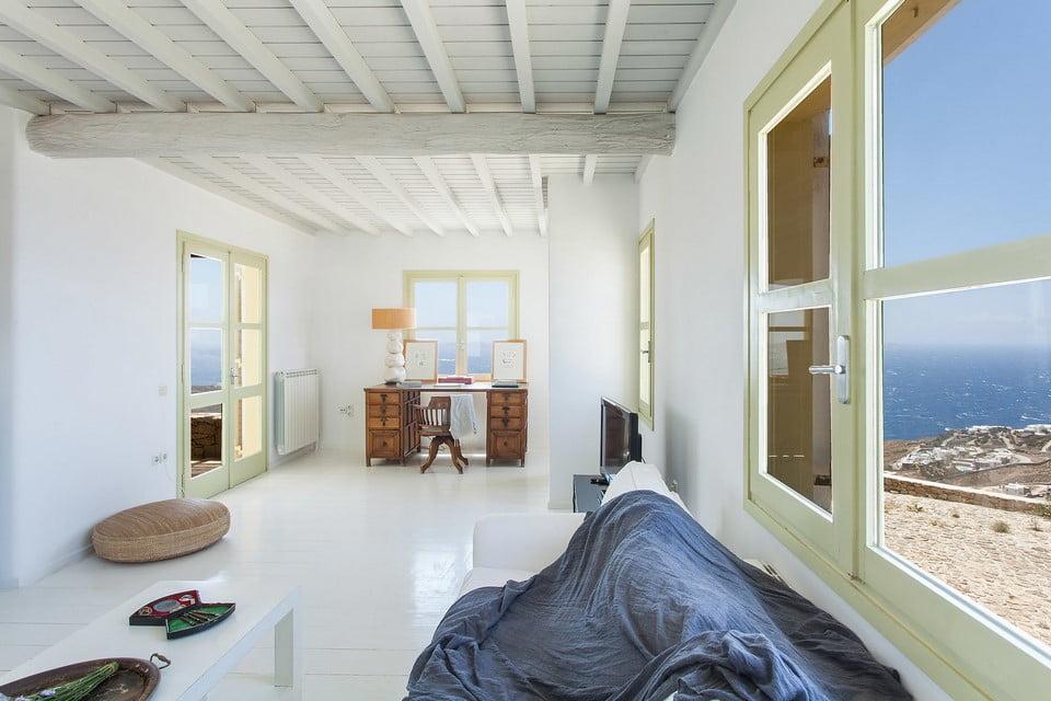 luxury villa bathroom Mykonos