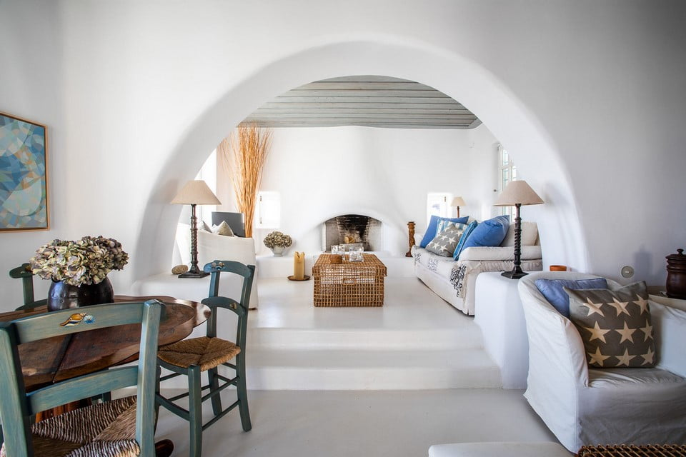 luxury villa living room Crete
