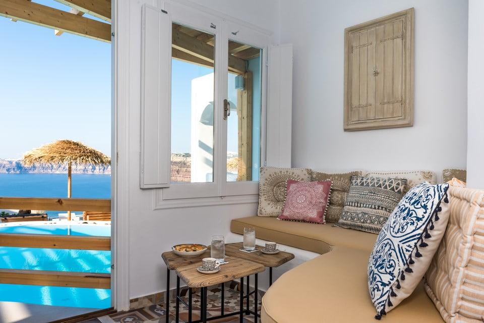 luxury villa dining room Mykonos