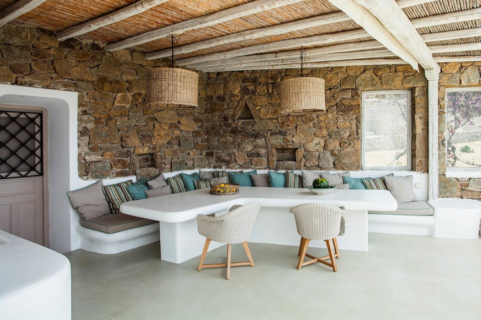 luxury villa kitchen Mykonos