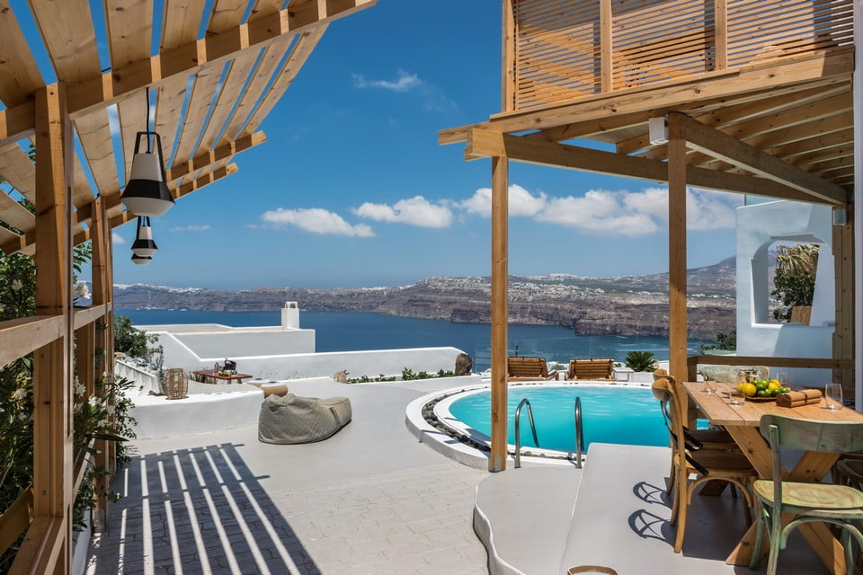 luxury villa Bedroom Mykonos