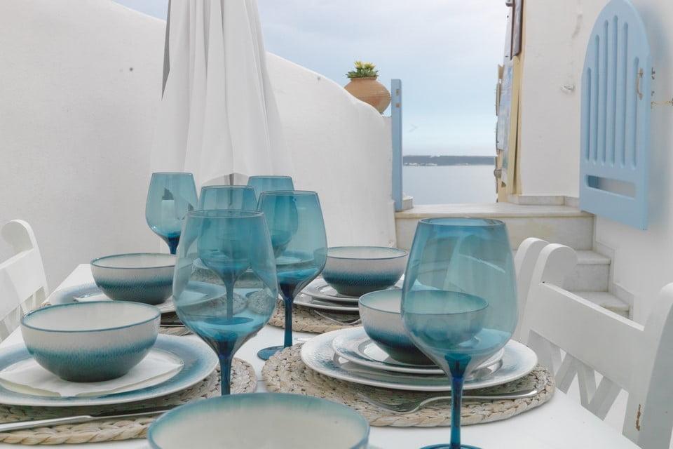 luxury villa outside area Mykonos
