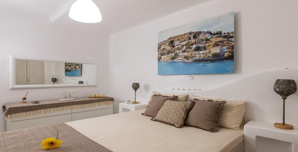 luxury bedroom villa mykonos
