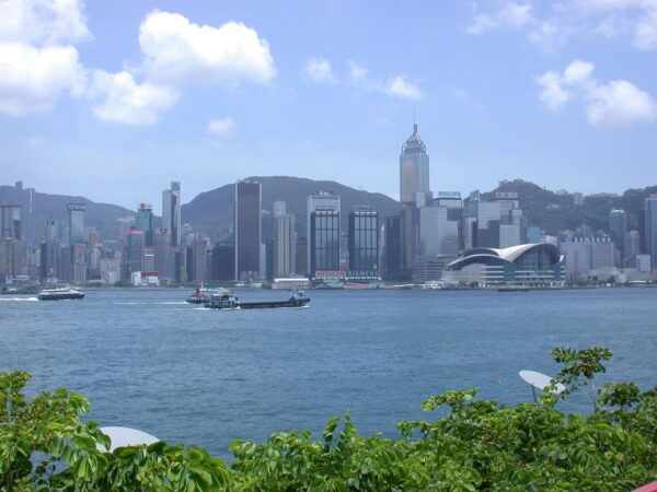 skyscrapers in hong kong as  a safe place to travel