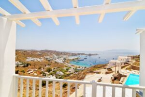 villa with a view at psarou beach